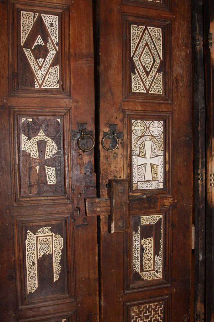 10th-century doors at Deir al-Surian Monastery, Egypt
