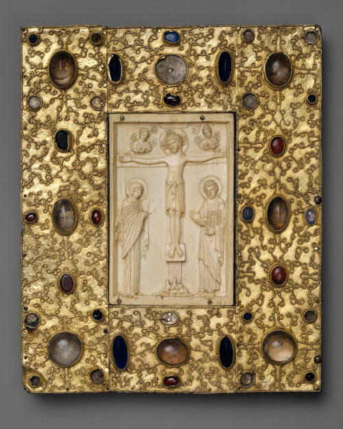 A medieval gospel book incorporating an 11th-century Byzantine ivory carving