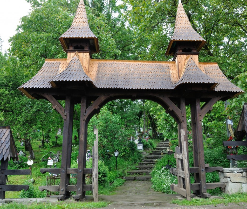 Churchyard gate, Desesti, Romania