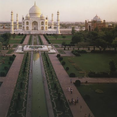 A vast paradisiacal landscape at the Taj Mahal, India, c. 1650