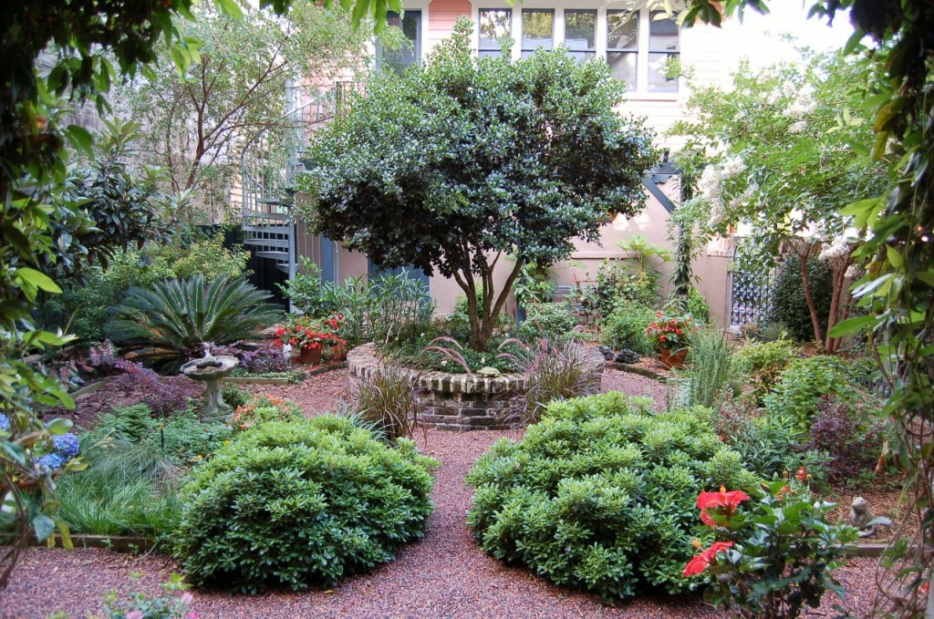 A medieval-style garden designed by the author, Charleston, SC