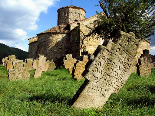 Stone grave crosses, Petrova Crkva, Serbia