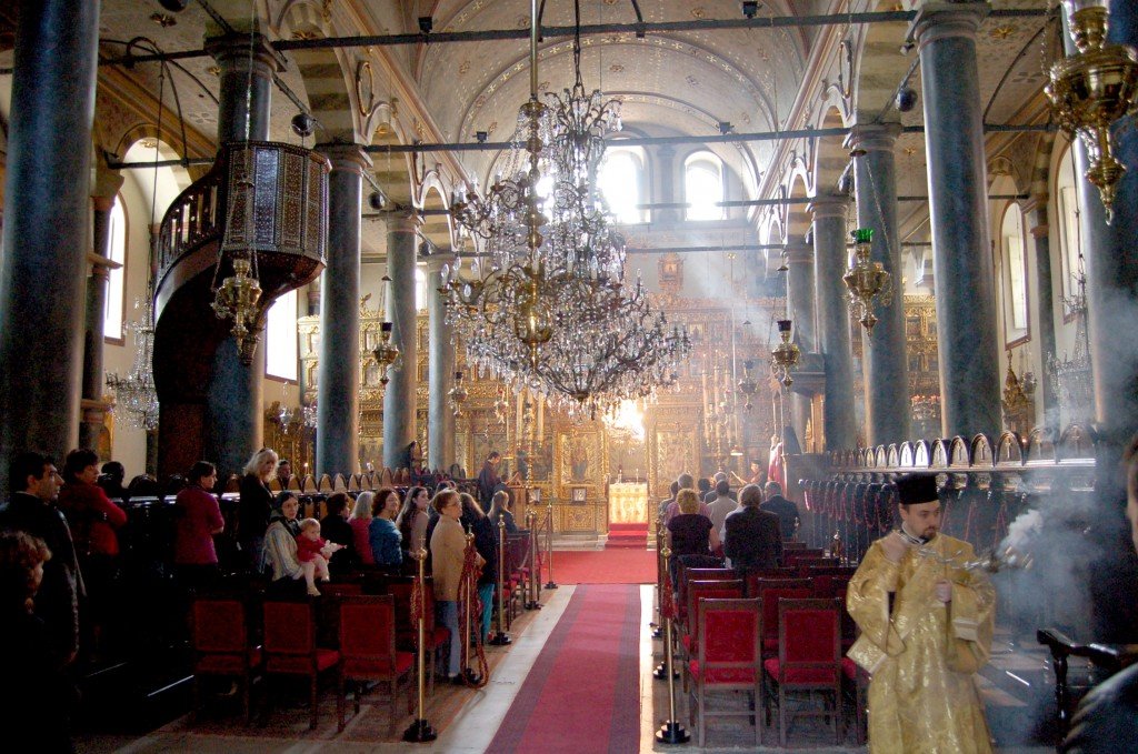 The beginning of Divine Liturgy at the Ecumenical Patriarchate, Istanbul.