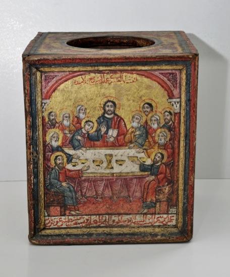 An antique Coptic chalice holder