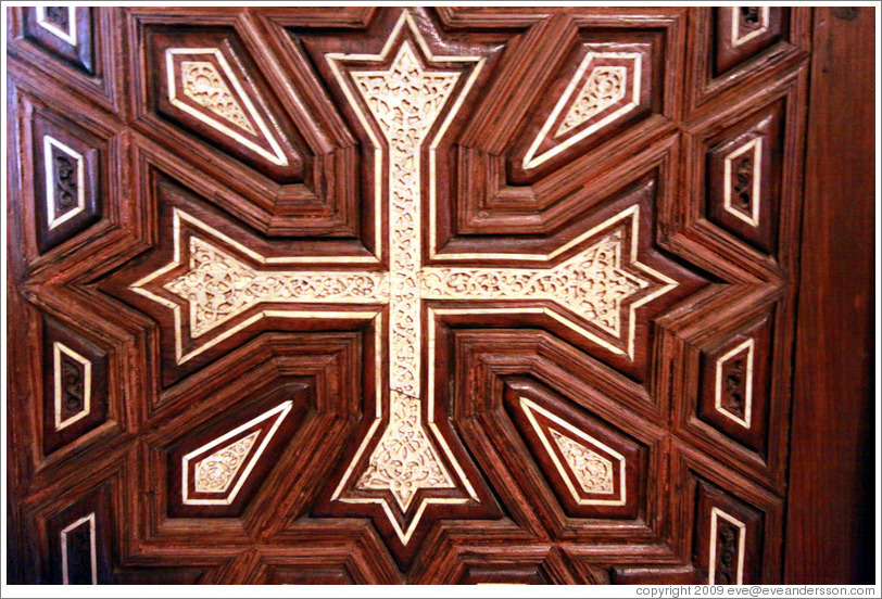 Medieval woodwork from the 'Hanging Church' in Cairo