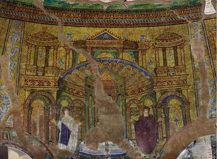 31 Rotunda, Thessaloniki, mosaic c.  ciborium copy