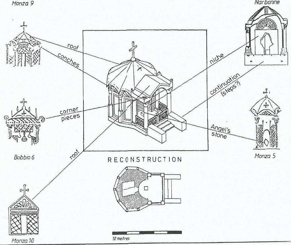33 Reconstruciton of the tomb-of-Christ, from Wilkinson, 'Egeria's Travels', p. 174 copy