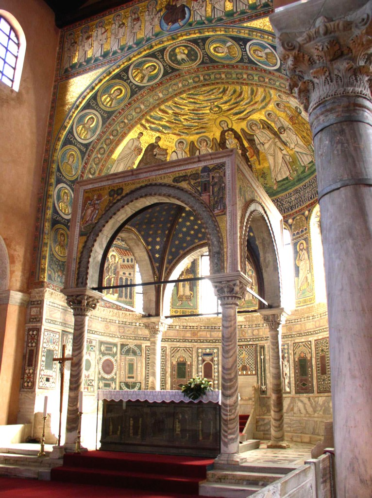 47 Ciborium Euphrasius Basilika, Porec, 1227, columns 6th copy 2