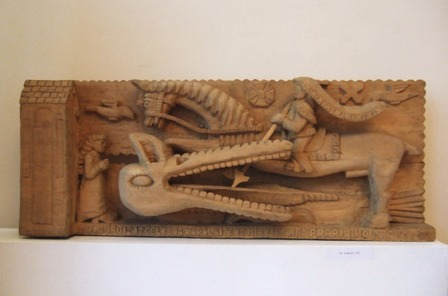15 wooden carving by lionginas sepka_ st george and dragon