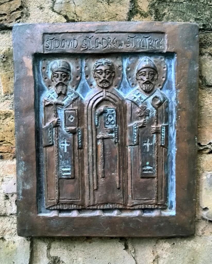 Aleksejevas. St-David of Wales, St-Andrew, St-Patrick.
