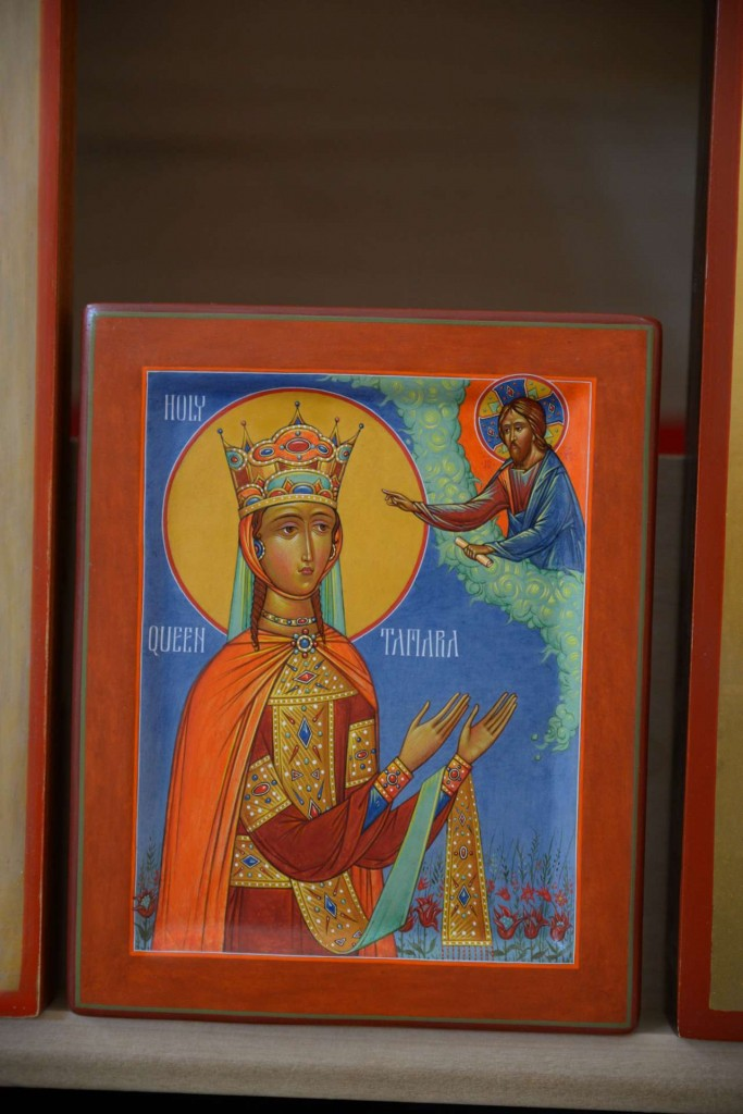 Icon of Holy Queen Tamara, by Fr. Silouan