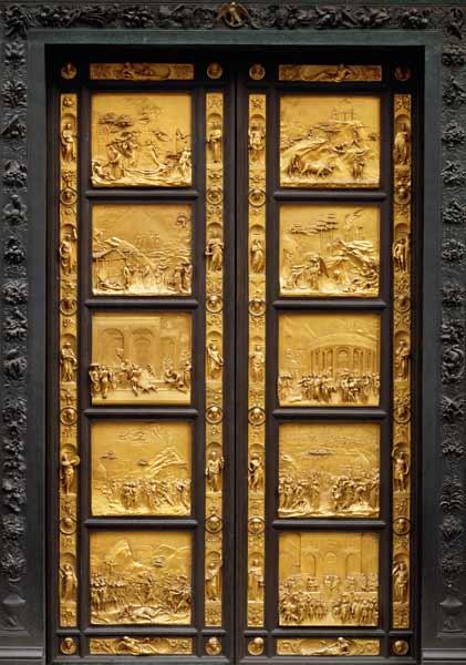 Ghiberti's Renaissance gates in Florence, 14th century.
