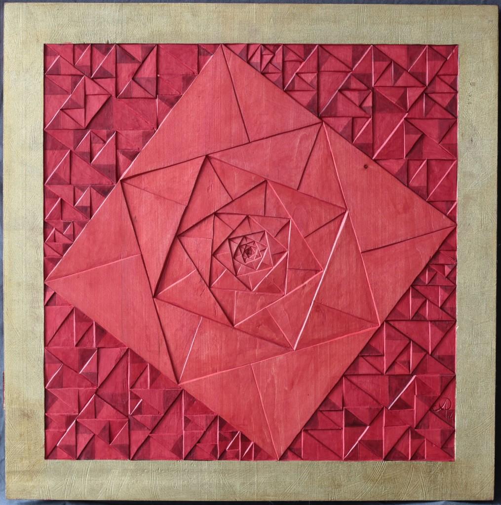Azbuhanov. Rose Pythagoras. 2013. 55cm x 55cm