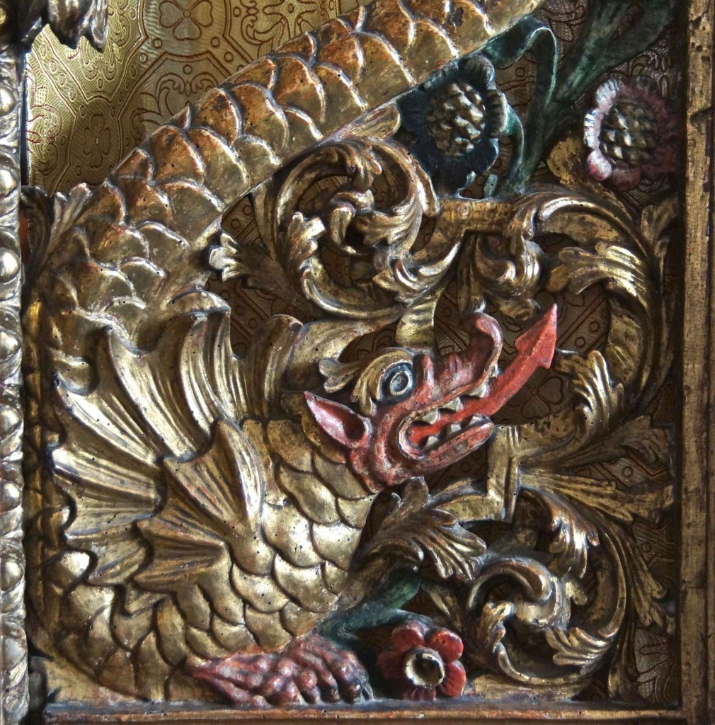 Detail of the holy doors, from the above screen.