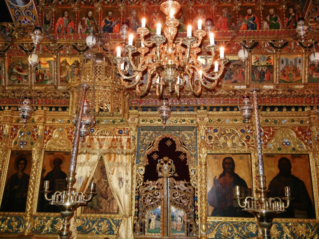 17th-century polychromed screen, St Nicholas of the Roof, Kakopetria, Cyprus