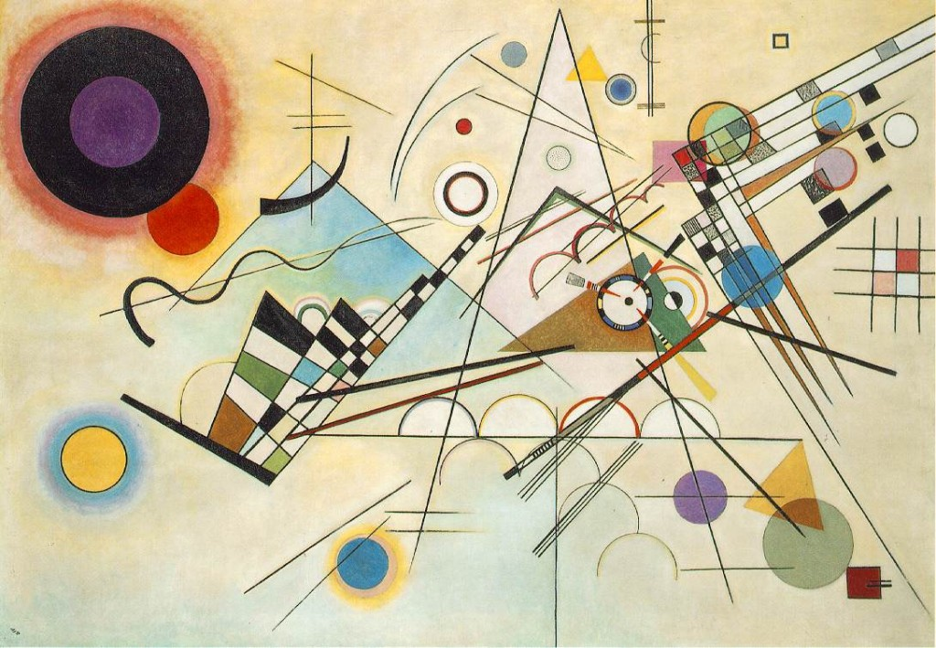Wassily Kandinsky. Composition 8, an example of 20th century Russian geometric abstraction