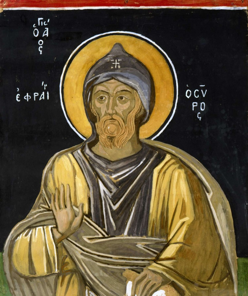 Saint Ephraim, copy from a mural by Theophanes at the monastery of Great Lavra on Mount Athos