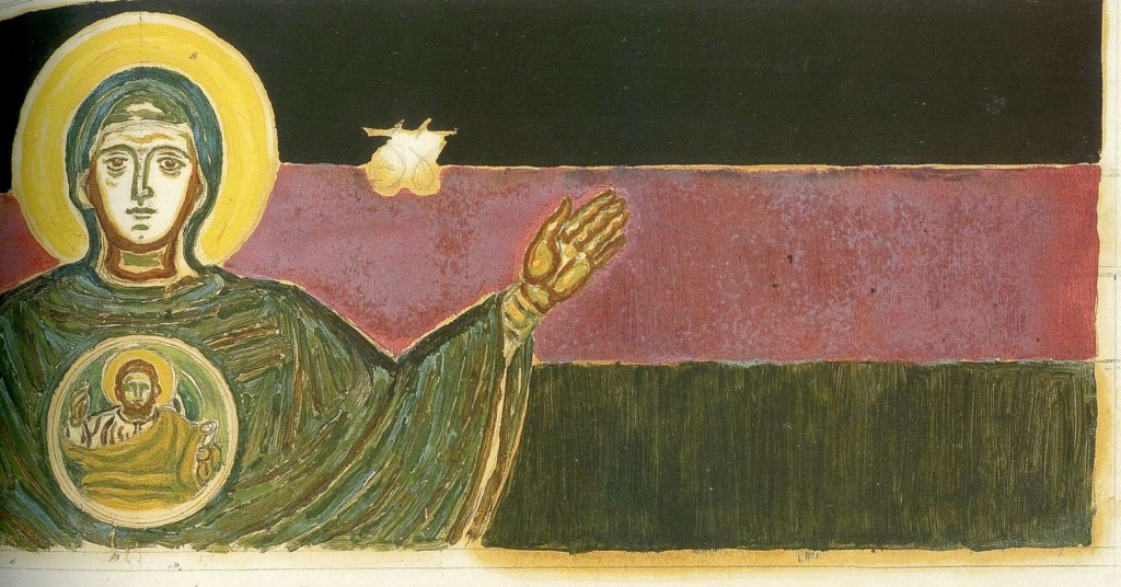Virgin Mary Platytera, study for the Nomikos school chapel