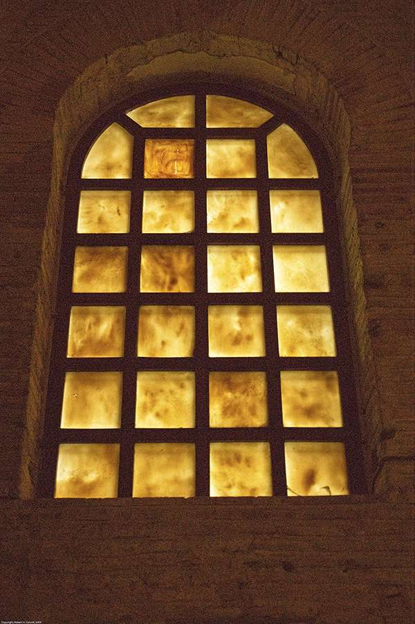 Alabaster windows. San Vitale, Ravenna, Italy. 6th century (restored 1906.)