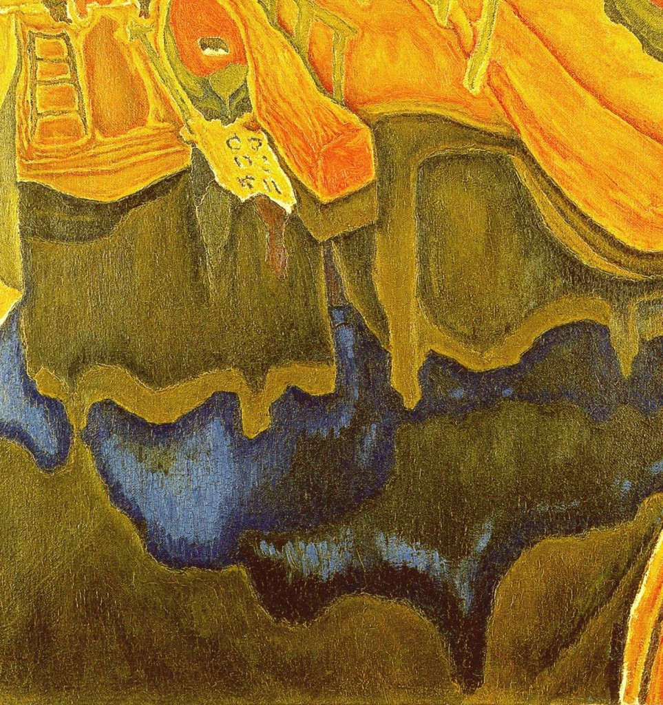 Detail from a Mount Athos landscape painting