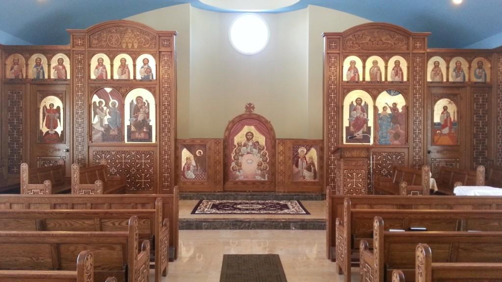 Iconostasis, Stephane René, St Mark's Coptic church, St Thomas, US Virgin Island.  2012