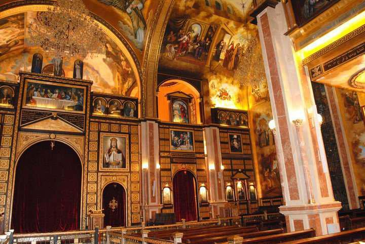 View of the iconostasis at the Cathedral of Sharm-el-Sheikh
