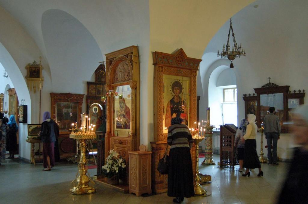 Inside the church before Vigil.