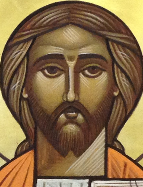 Holy Face by Stephane Rene, 2013 This face represents the standard canon for the human face of God the Son, for the contemporary Coptic style  of iconography and is designed and painted using the principles and geometry established by Isaac Fanous.