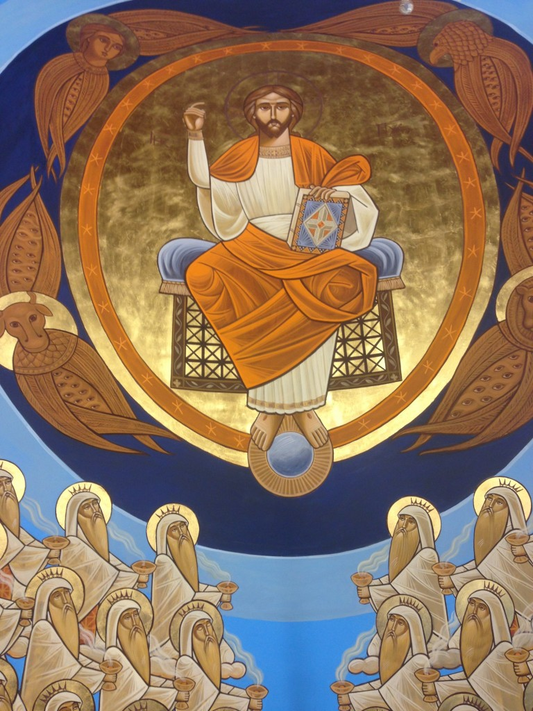 Christ Pantocrator, Stephane Rene 2014 in the apse of Sts Mary and Kyrillos VI, London