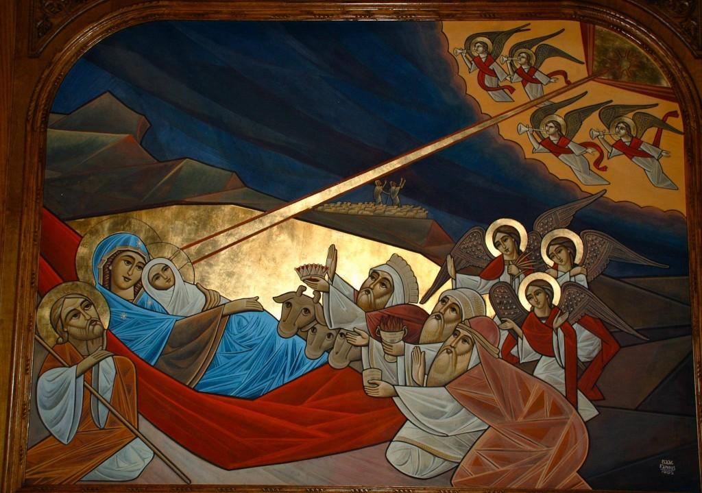 Nativity, Isaac Fanous 1991, Holy Virgin Coptic Church, Los Angeles, CA