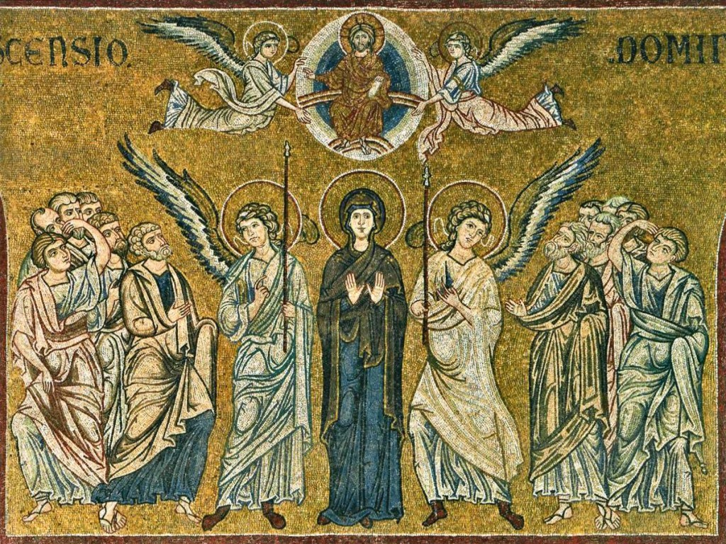 Ascension mosaic from Monreale, Sicily. 12th century.