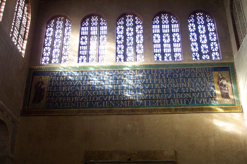 Original dedicatory inscription of Santa Sabina in Rome. 5th century