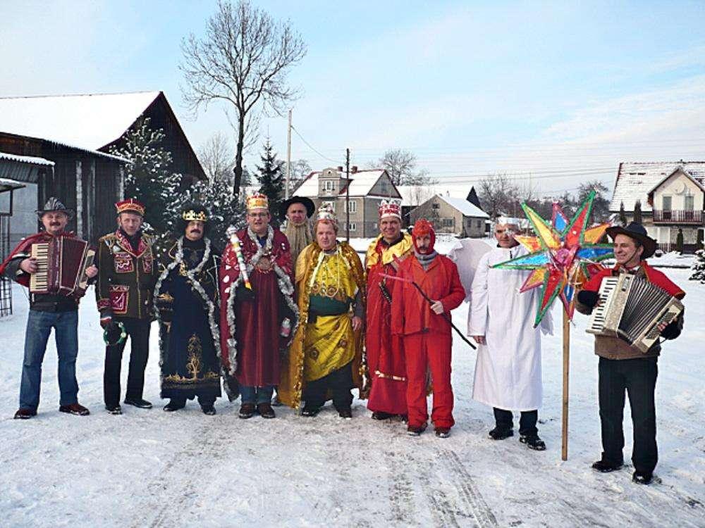 Christmas carolers, Poland