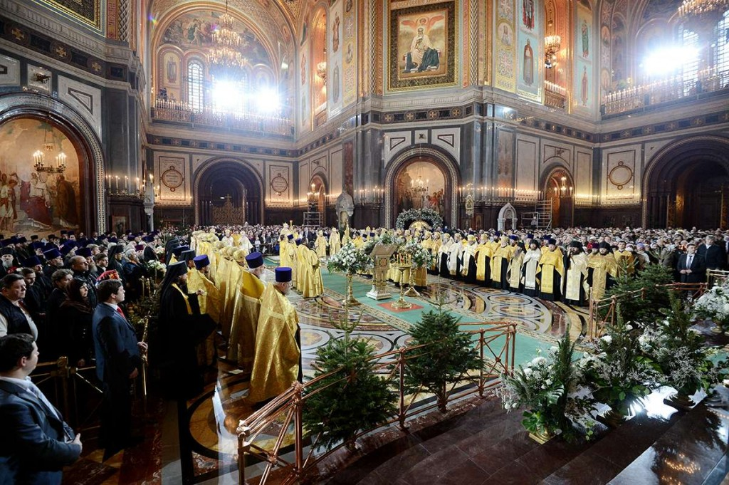 Christmas Vespers at the Cathedral of Christ Our Savior, Moscow, 2013