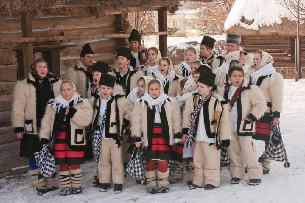 Christmas carolers, Romania