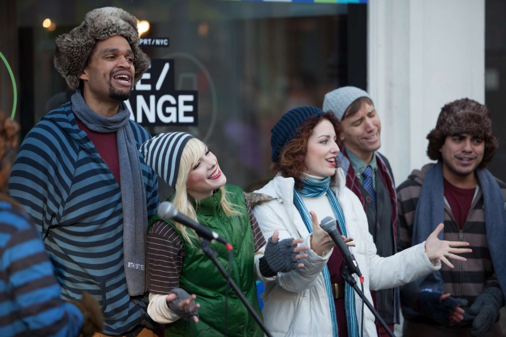 A troupe of self-described 'Hipster Carolers' in New York City.