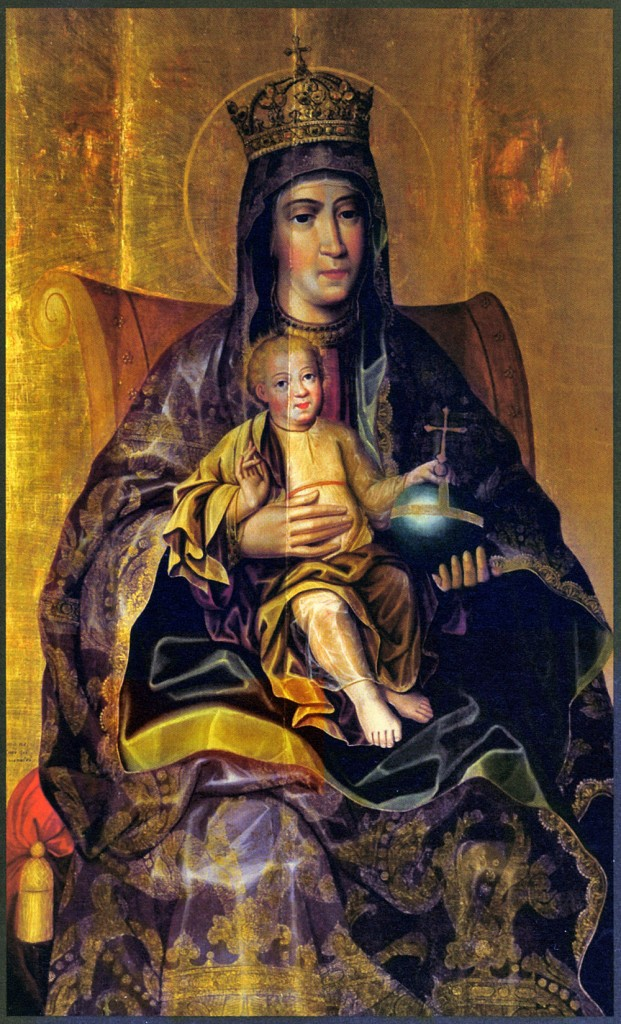 Karp Zolotarev, Theotokos and the Child, late 17th cent. Andrei Rublev Museum, Moscow. In Zolotarev, emplyed by the Kremlin Armory, we can already see the turning away from the traditional icon and and an attempt in emulating the sensibilities of Baroque naturalism.