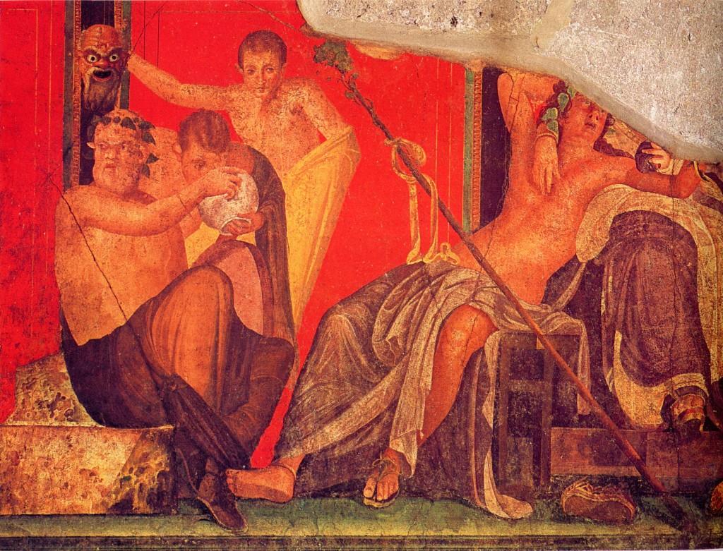 Dionysiac frieze, Villa of the Mysteries, Pompeii.