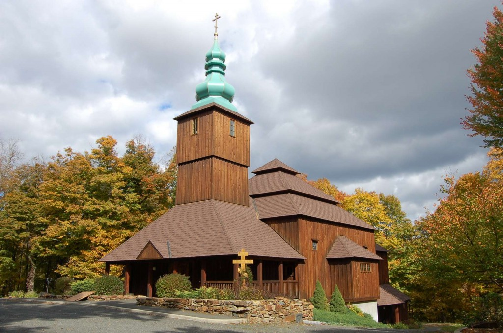 The exterior of Holy Trinity Orthodox Church, Danbury, CT