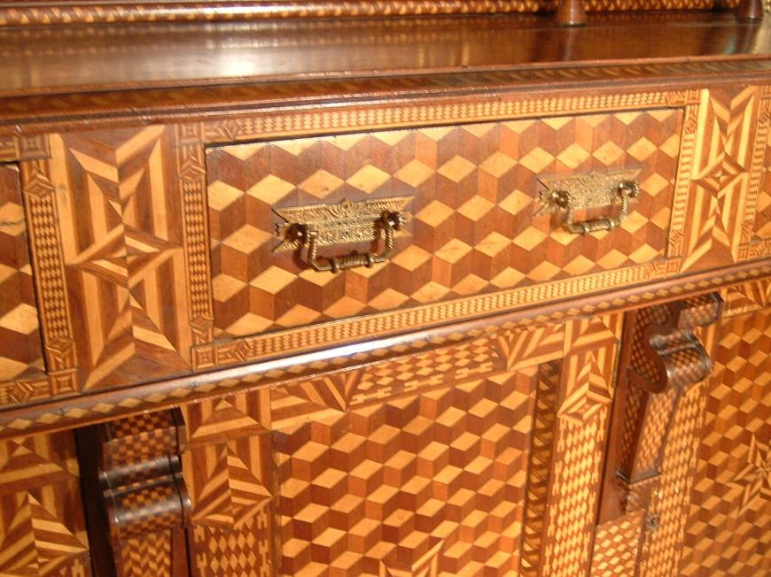 Inlaid sideboard, American, 19th century