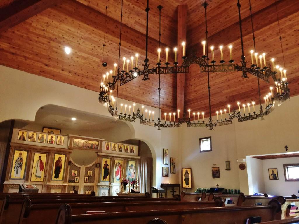Newly-installed choros at Holy Trinity Orthodox Church, Danbury, CT.