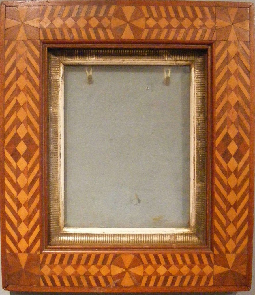 Inlaid picture frame, American, 19th century