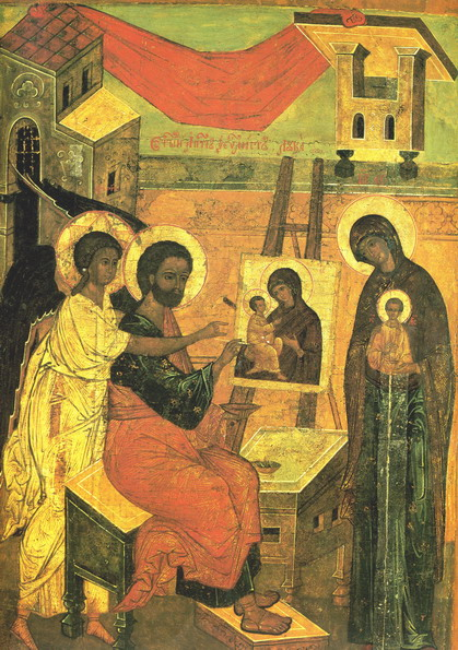 St-Luke painting the Theotokos