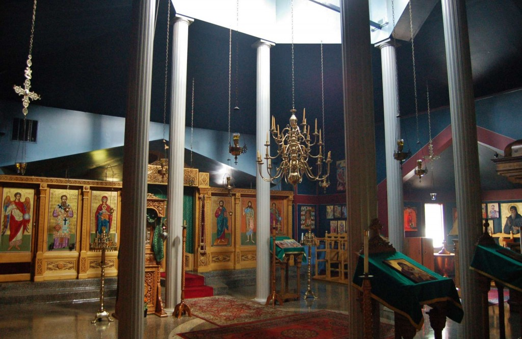 The existing chapel, interior.