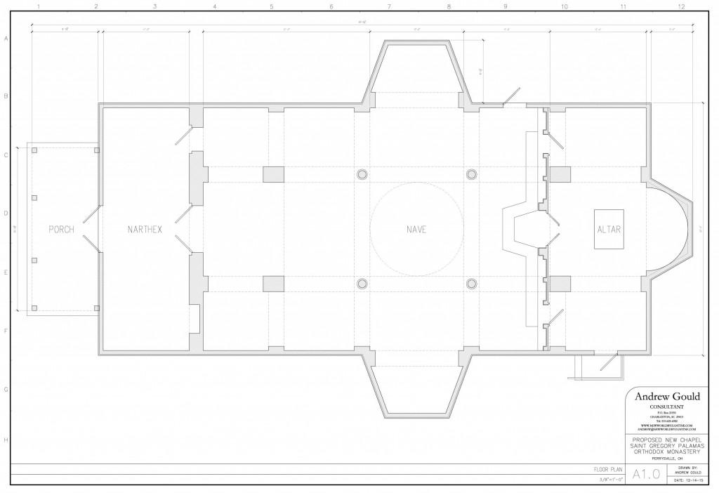 Proposed floor plan.
