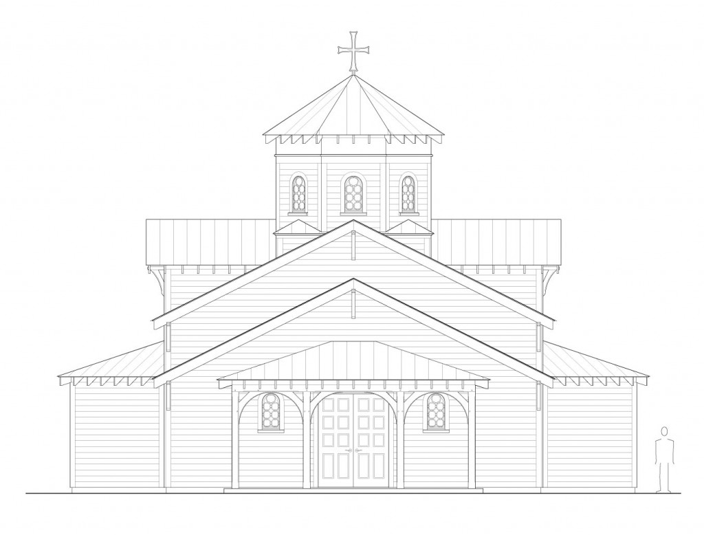 Proposed west elevation.