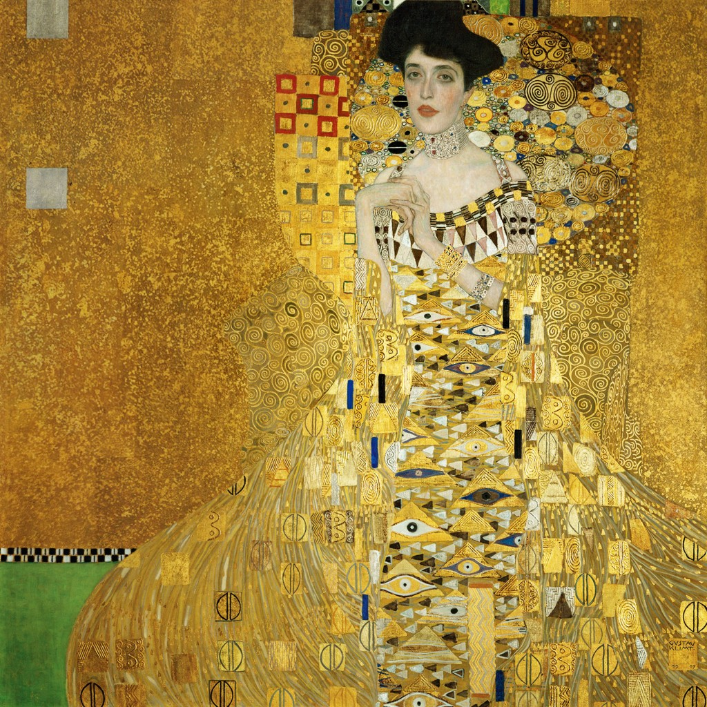 "Byzantine space in Art Nouveau painting.  ""Portrait of Adele Bloch-Bauer I"" by Gustave Klimt"