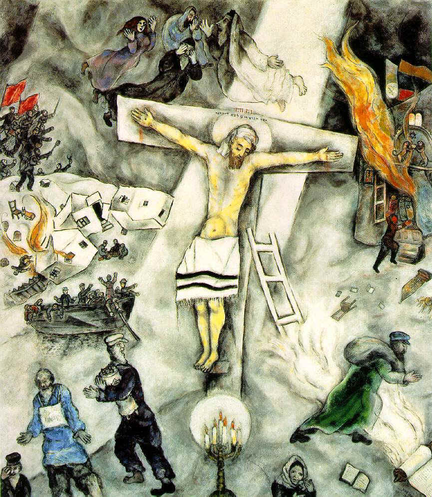 """White Crucifixion"" by Marc Chagal, 1938."