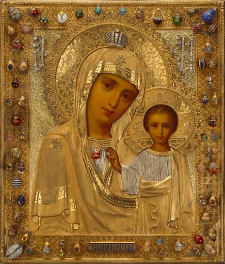 06 Our Lady of Kazan. Moscow, late 19th century