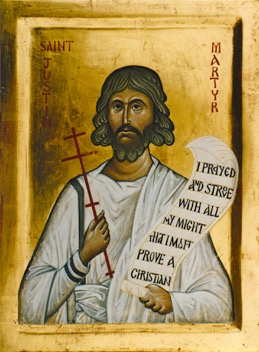 10 Justin Martyr,icon by the author